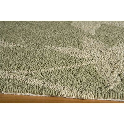 Fleurance Hand-Hooked Sage Indoor/Outdoor Area Rug Rug Size: 5 x 8
