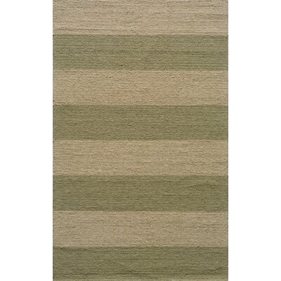 Moten Hand-Hooked Sage/Ivory Indoor/Outdoor Area Rug Rug Size: Rectangle 5 x 8