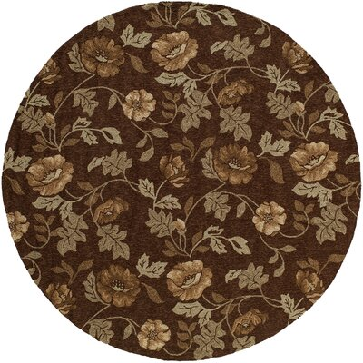 Fleurance Brown Indoor/Outdoor Area Rug Rug Size: Round 9