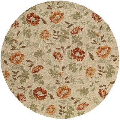 Moten Sand�Indoor/Outdoor Area Rug Rug Size: Round 9