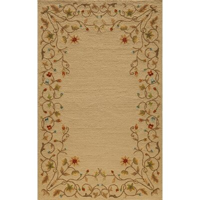 Fleurance Beige Indoor/Outdoor Area Rug Rug Size: 5 x 8