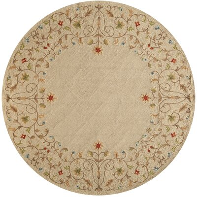 Moten Beige Indoor/Outdoor Area Rug Rug Size: Round 9