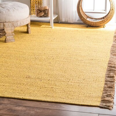 Wesley Yellow Area Rug Rug Size: 76 x 96