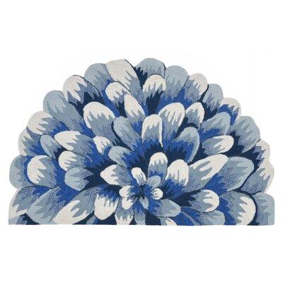 Ismay Hand-Tufted Blue Indoor/Outdoor Area Rug Rug Size: 18 x 26