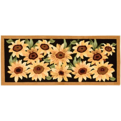 Goodhue Black/Yellow Novelty Rug