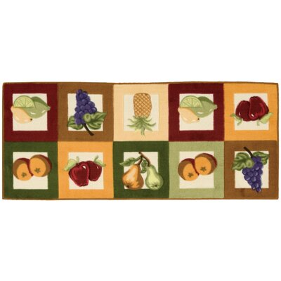 Grassmere Green/Orange Novelty Rug