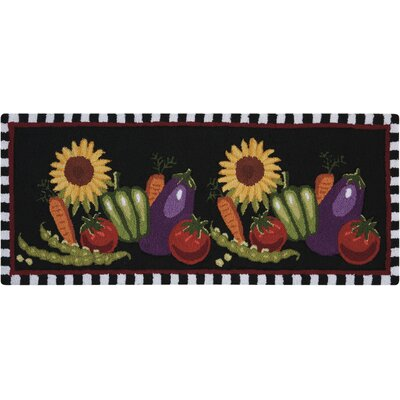 Henley Hand-Tufted Black Novelty Rug Rug Size: Runner 110 x 46