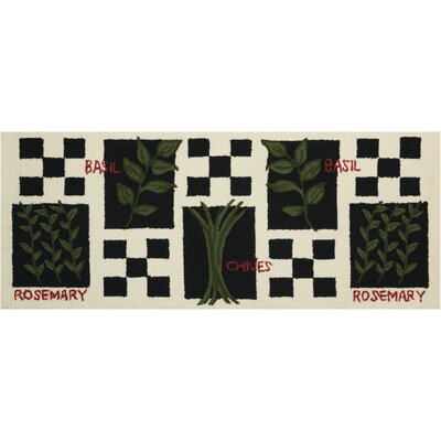 Hessie Hand-Tufted Black/White Novelty Rug