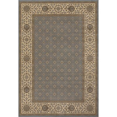 Saire Beige/Blue Area Rug Rug Size: Rectangle 92 x 125