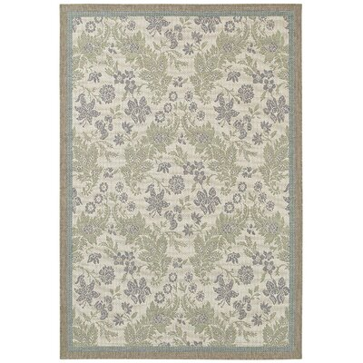 Avallon Champagne Indoor/Outdoor Area Rug Rug Size: 53 x 76