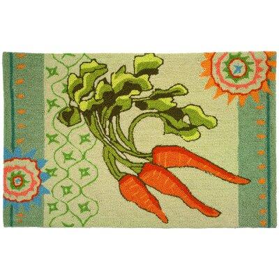 Eragny Garden Carrots Green Area Rug Rug Size: Rectangle 110 x 210