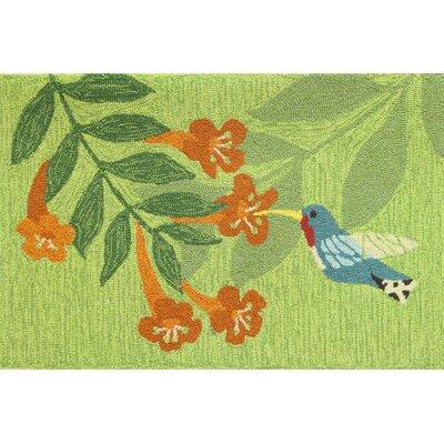 Valois Hummingbird Nectar Green Area Rug