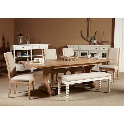 Saguenay Dining Set with Bench and 4 Side Chairs