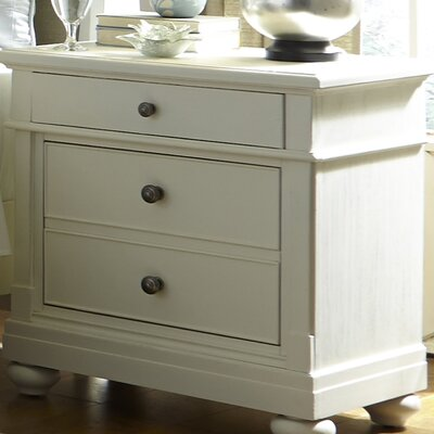Baroncourt 2 Drawer Nightstand Finish: Linen