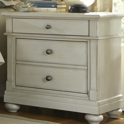 Saguenay 2 Drawer Nightstand Color: Dove Gray