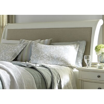 Saguenay Sleigh Headboard Finish: Linen, Size: King