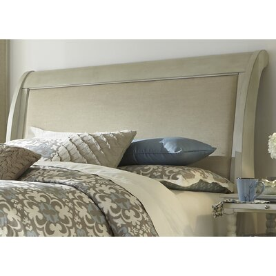 Saguenay Sleigh Headboard Size: King, Finish: Dove Gray