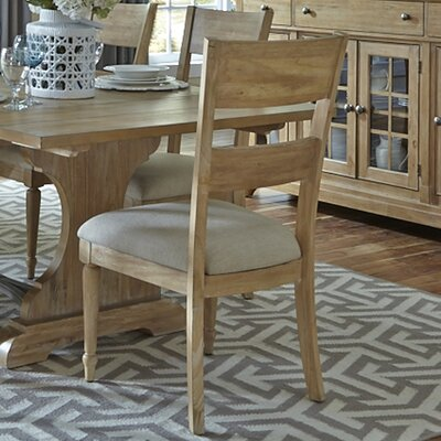 Saguenay Slat Back Side Chair (Set of 2) Finish: Sandstone