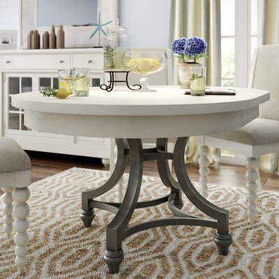 Saguenay Round Dining Table Finish: Linen