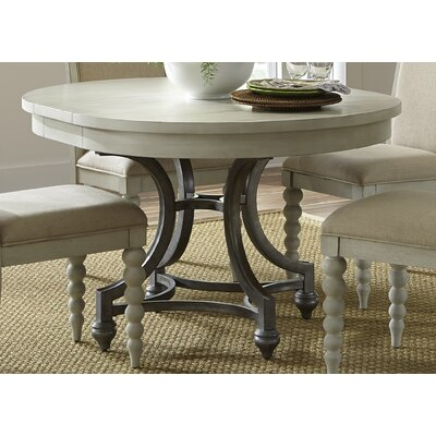 Saguenay Round Dining Table Finish: Dove Gray