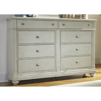 Baroncourt 8 Drawer Dresser Finish: Dove Gray