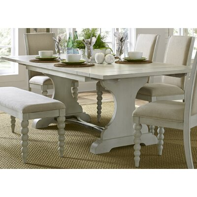Saguenay Trestle Dining Table Finish: Dove Gray