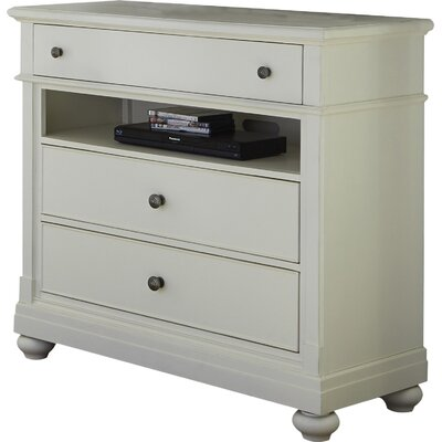 Baroncourt 3 Drawer Media Chest Finish: Linen