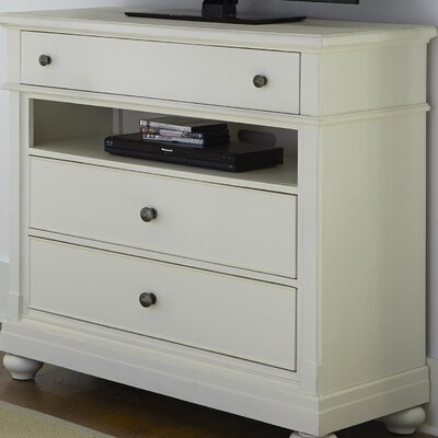 Saguenay 3 Drawer Media Chest Color: Linen