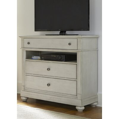 Baroncourt 3 Drawer Media Chest Finish: Dove Gray
