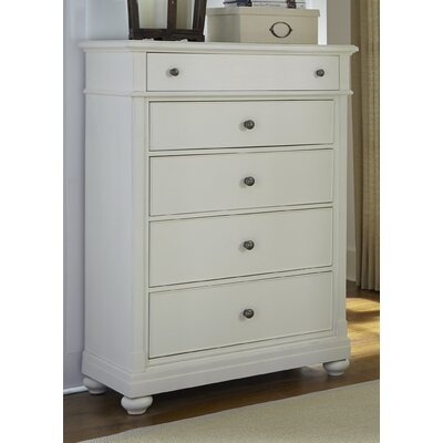 Saguenay 5 Drawer Chest Color: Linen