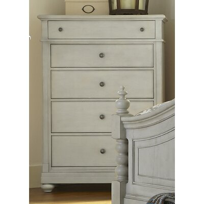 Saguenay 5 Drawer Chest Color: Dove Gray