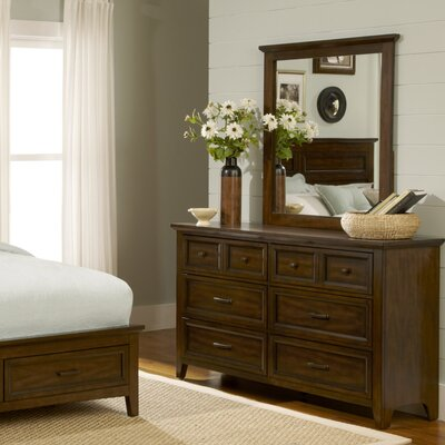 Mortemart 6 Drawer Dresser with Mirror