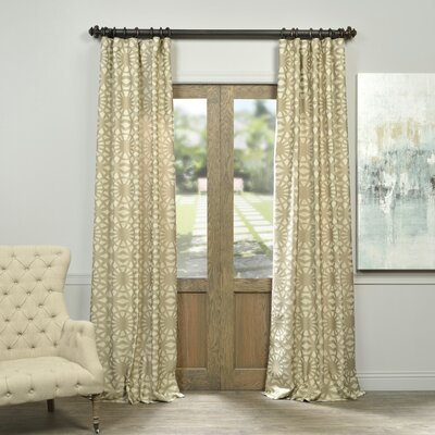 Luisa  Single Curtain Panel Size: 50 W x 84 L