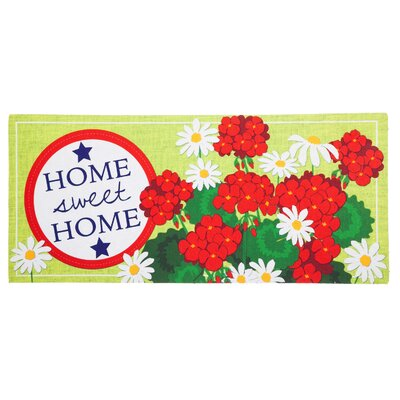Amie Basket of Flowers Sassafras Switch Doormat