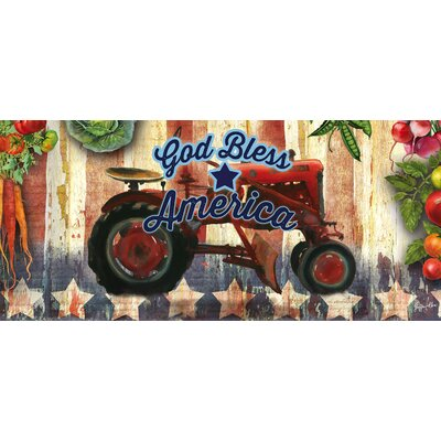 Grafton Tractor God Bless America Sassafras Switch Doormat