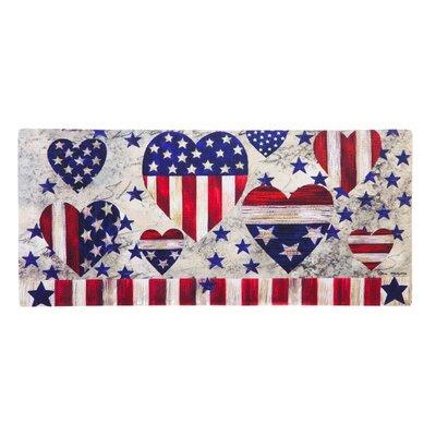Amie Patriotic Hearts Sassafras Doormat