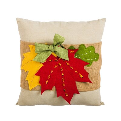Mud Lake Fall Leaves Throw Pillow
