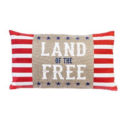 Powers Lake Land of the Free Indoor/Outdoor Lumbar Pillow