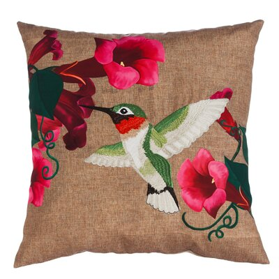Dewey Hummingbird Indoor/Outdoor Throw Pillow