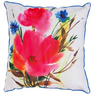 Aloha Botanical Mix Watercolor Floral Indoor/Outdoor Throw Pillow