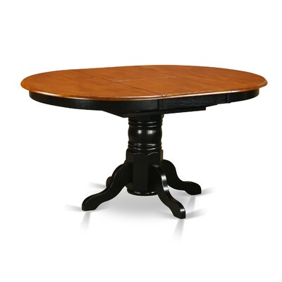 Aimee Dining Table Finish: Black and Cherry