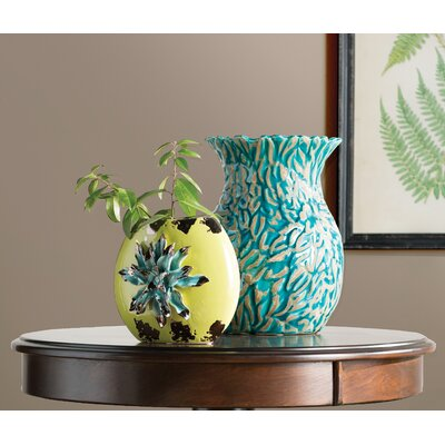 Elona Gold Ceramic Flower Vase