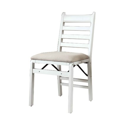 Mercy Folding Side Chair Finish: White