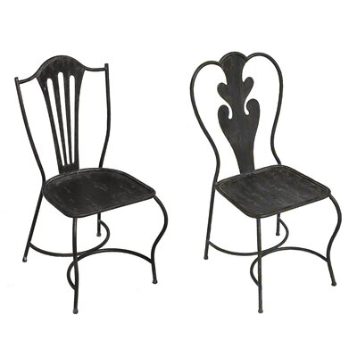 Merrill 2 Piece Metal Side Chair Set