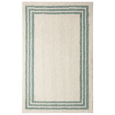 Opal Beige/Aqua Area Rug Rug Size: Rectangle 5 x 7