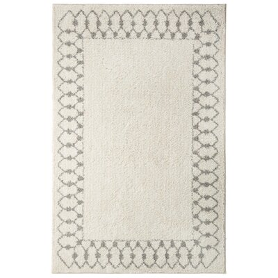 Opal Chained Border Gray Area Rug Rug Size: Rectangle 8 x 10