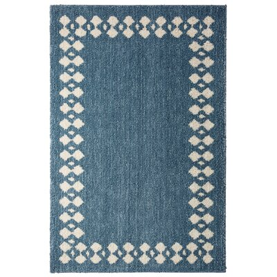 Opal Stacked Border Blue/Beige Area Rug Rug Size: Rectangle 8 x 10