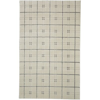 Orrin Gingham Cream/Gray Area Rug Rug Size: 5 x 7