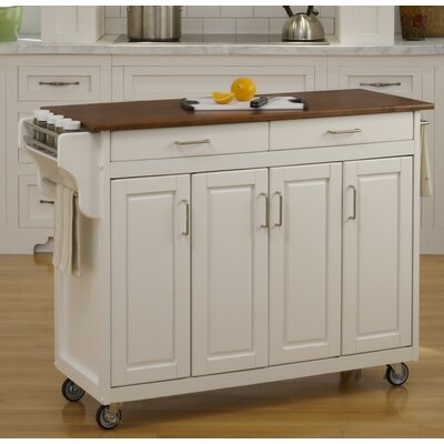 Regiene Kitchen Island Finish: White