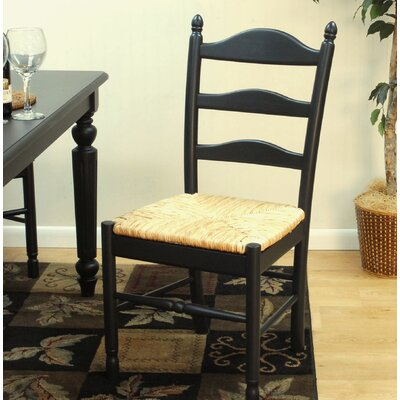 Emilia Side Chair Color: Antique Black